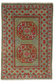 Afghan Rug 79X115 Authentic  Oriental Handknotted Dark Green/Dark Brown (Wool, Afghanistan)