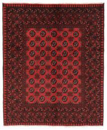 Afghan Rug 151X183 Authentic  Oriental Handknotted Black/Dark Red (Wool, Afghanistan)