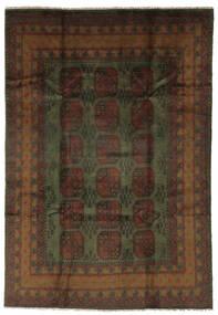 Afghan Rug 200X288 Authentic  Oriental Handknotted Black (Wool, Afghanistan)