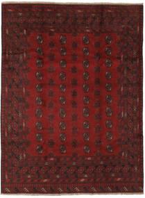 Afghan Rug 201X267 Authentic  Oriental Handknotted Black/Dark Red (Wool, Afghanistan)