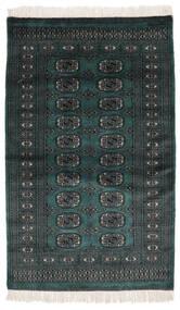 Pakistan Bokhara 2Ply Rug 91X152 Authentic  Oriental Handknotted Black (Wool, Pakistan)