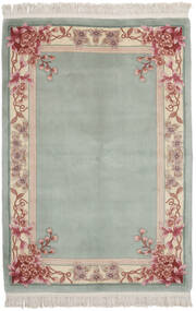 China 90 Line Rug 137X198 Authentic  Oriental Handknotted Dark Green/Olive Green (Wool, China)