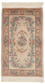 China 90 Line Rug 91X152 Authentic  Oriental Handknotted Brown/Dark Brown (Wool, China)