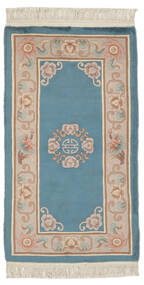 China 90 Line Rug 76X140 Authentic Oriental Handknotted Dark Blue/Brown (Wool, China)