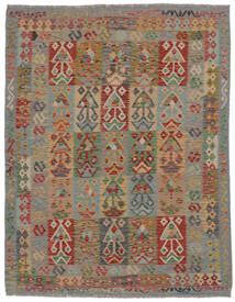 Kilim Afghan Old Style Rug 160X205 Authentic  Oriental Handwoven Dark Brown/Brown (Wool, Afghanistan)