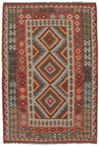 Kilim Afghan Old Style Rug 132X192 Authentic  Oriental Handwoven Dark Brown/Brown (Wool, Afghanistan)