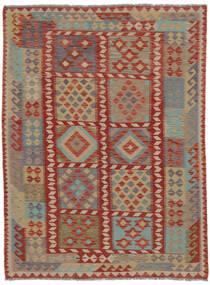 Kilim Afghan Old Style Rug 150X200 Authentic  Oriental Handwoven Dark Brown/Brown (Wool, Afghanistan)