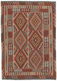 Kilim Afghan Old Style Rug 153X215 Authentic  Oriental Handwoven Dark Brown/Black (Wool, Afghanistan)