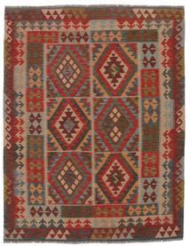 Kilim Afghan Old Style Rug 160X206 Authentic  Oriental Handwoven Dark Brown/Black (Wool, Afghanistan)