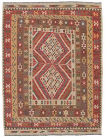 Kilim Afghan Old Style Rug 154X200 Authentic  Oriental Handwoven Dark Brown/Brown (Wool, Afghanistan)