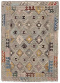 Kilim Afghan Old Style Rug 145X203 Authentic  Oriental Handwoven Dark Brown/Brown (Wool, Afghanistan)