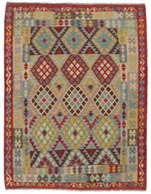 Kilim Afghan Old Style Rug 156X200 Authentic  Oriental Handwoven Dark Brown/Brown (Wool, Afghanistan)