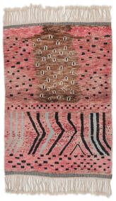 Berber Moroccan - Mid Atlas Rug 126X185 Authentic  Modern Handknotted Dark Red/Dark Brown (Wool, Morocco)