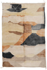 Berber Moroccan - Mid Atlas Rug 203X296 Authentic  Modern Handknotted Light Brown/Brown (Wool, Morocco)