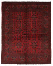 Afghan Khal Mohammadi Rug 151X195 Authentic Oriental Handknotted Black/Dark Red (Wool, Afghanistan)