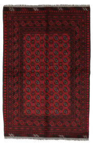 Afghan Rug 156X230 Authentic Oriental Handknotted Black/White/Creme (Wool, Afghanistan)