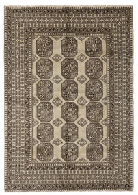 Afghan Rug 204X291 Authentic  Oriental Handknotted Dark Brown/Black (Wool, Afghanistan)