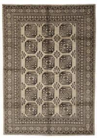 Afghan Rug 212X303 Authentic  Oriental Handknotted Dark Brown/Black (Wool, Afghanistan)