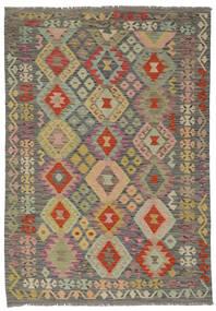 Kilim Afghan Old Style Rug 150X211 Authentic  Oriental Handwoven Dark Brown/Brown (Wool, Afghanistan)