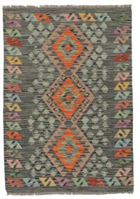 Kilim Afghan Old Style Rug 86X123 Authentic  Oriental Handwoven Dark Green/Black (Wool, Afghanistan)