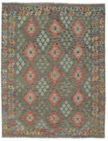 Kilim Afghan Old Style Rug 156X197 Authentic  Oriental Handwoven Dark Green/Dark Brown (Wool, Afghanistan)