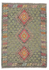 Kilim Afghan Old Style Rug 83X114 Authentic  Oriental Handwoven Dark Green/Brown (Wool, Afghanistan)