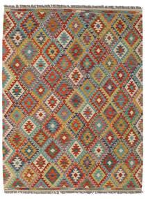 Kilim Afghan Old Style Rug 155X200 Authentic  Oriental Handwoven Dark Brown/Dark Green (Wool, Afghanistan)