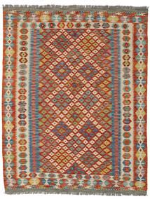 Kilim Afghan Old Style Rug 157X203 Authentic  Oriental Handwoven Dark Red/Dark Grey (Wool, Afghanistan)