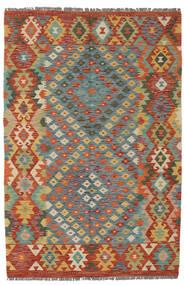 Kilim Afghan Old Style Rug 125X192 Authentic  Oriental Handwoven Dark Brown/Dark Red (Wool, Afghanistan)
