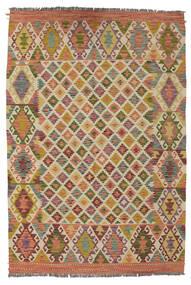 Kilim Afghan Old Style Rug 133X194 Authentic  Oriental Handwoven Dark Brown/Brown (Wool, Afghanistan)
