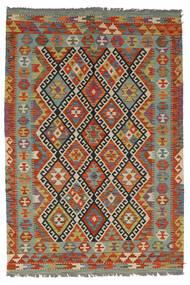 Kilim Afghan Old Style Rug 126X185 Authentic  Oriental Handwoven Dark Red/Dark Brown (Wool, Afghanistan)