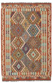Kilim Afghan Old Style Rug 126X189 Authentic  Oriental Handwoven Dark Green/Dark Brown (Wool, Afghanistan)