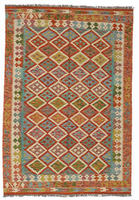 Kilim Afghan Old Style Rug 130X187 Authentic  Oriental Handwoven Dark Brown/Dark Red (Wool, Afghanistan)