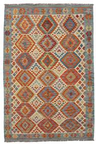 Kilim Afghan Old Style Rug 133X205 Authentic  Oriental Handwoven Dark Brown/Beige (Wool, Afghanistan)
