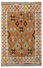 Kilim Afghan Old Style Rug 125X188 Authentic  Oriental Handwoven Dark Brown/Beige (Wool, Afghanistan)