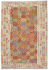 Kilim Afghan Old Style Rug 207X292 Authentic  Oriental Handwoven (Wool, Afghanistan)