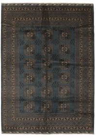 Afghan Rug 207X286 Authentic  Oriental Handknotted Black/Dark Brown (Wool, Afghanistan)