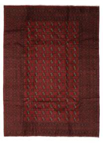 Afghan Rug 204X280 Authentic  Oriental Handknotted Black/Beige (Wool, Afghanistan)