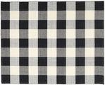 Check Kilim - Black / White
