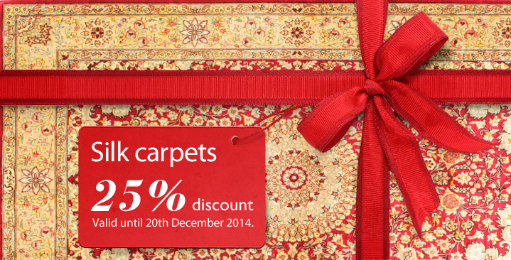 Silk carpet 25% off - this week only!