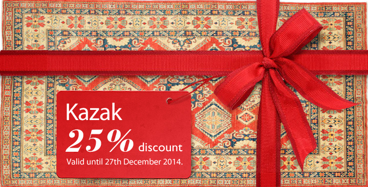 Kazak carpets 25% off - this week only!