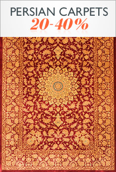 Persian carpets 20-40%